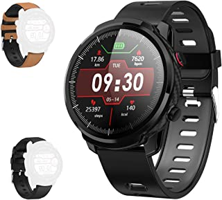Smart Watch with Full Touchscreen and Display of Round Dial, 2019 Version IP67 Waterproof,Fitness Tracker Watch with Pedometer Heart Rate Blood Pressure Monitor Sleep Tracker,Black
