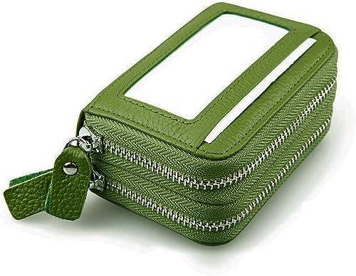 wholesale Larcele lowest outlet online sale RFID Card Organizer Coin's Holder FCKB-01 (Green) outlet online sale