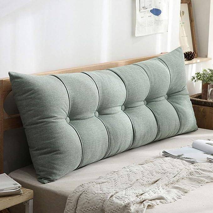 T/ête de lit Coussins Inclin/é Lecture Oreillers Lit Canap/é Chambre /à Coucher Nordique//Couverture Amovible en Tissu floqu/é