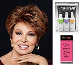 Fanfare Wig Color RL10/12 - Raquel Welch Women's Wigs Short Heat Friendly Lace Front Monofilament Top Bundle with Travel Kit, MaxWigs Hair Loss Booklet