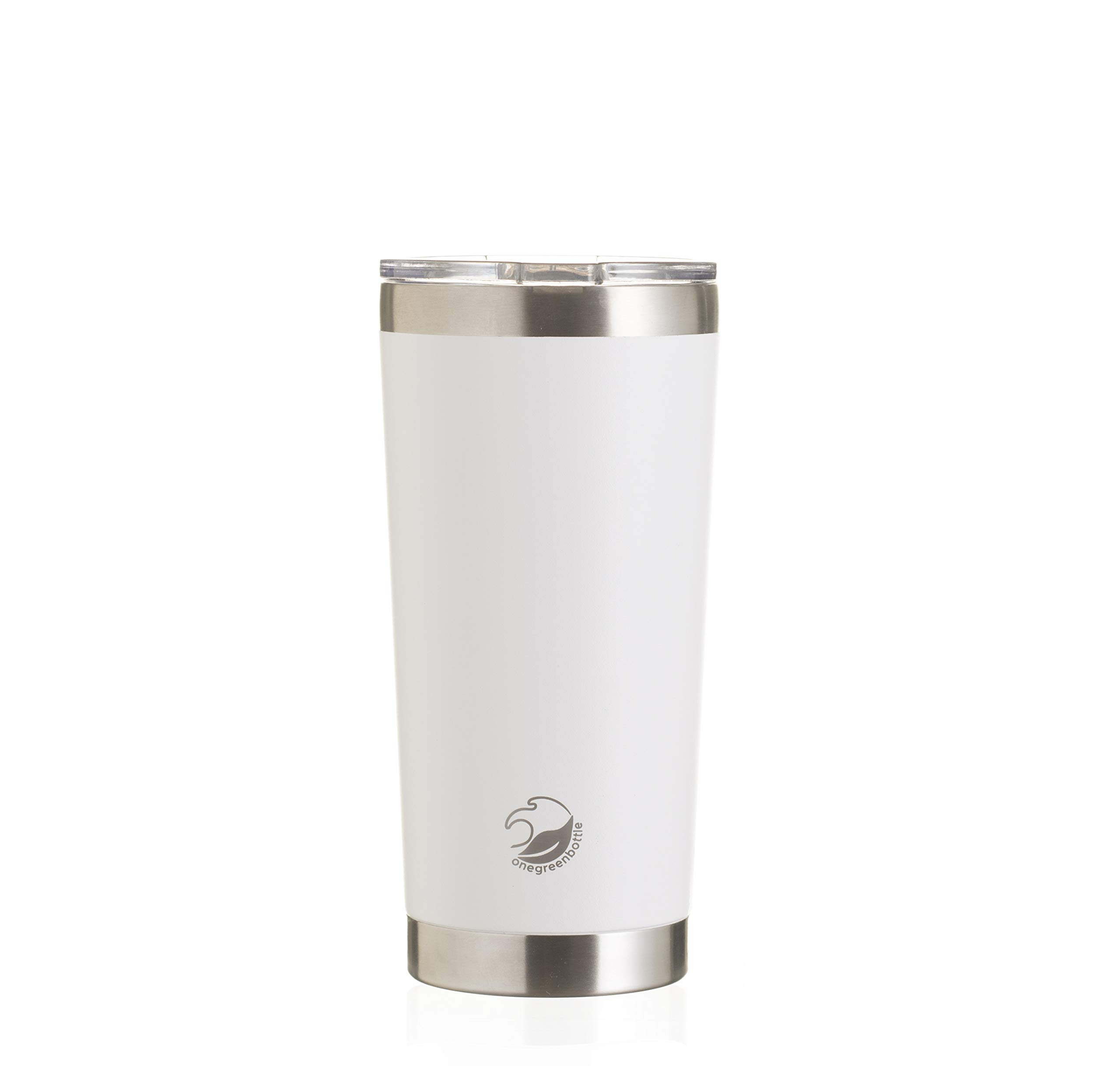 Travel Insulation Vaccum Coffee Mug Thermos Cups Quality Stainless Steel Interior White
