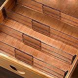 Baffect Lot de 4 séparateurs de tiroirs, séparateurs d'organisateurs de tiroirs Extensibles 51-27,5 cm, organisateurs Multi-tiroirs pour Commode de Bureau de Chambre à Coucher de Salle de Bains
