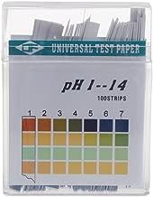 Because0f 100 Strips 1-14 PH Alkaline Acid Indicator Paper Water Saliva Litmus Testing Kit