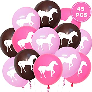 Kreatwow 45 Pcs Horse Party Balloons for Western Cowgirl Party Decorations and Supplies, Horse Baby Shower