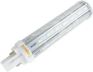 Bonlux G24 LED PL Retrofit Lamp Universal G24d 2-pin G24q 4-pin Base 21mm LED PLC Lamp 26w Equivalent, Warm White LED PL Horizontal Recessed G24q Bulb (Remove/Bypass The Ballast)