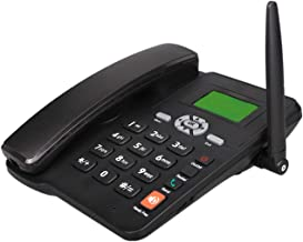 $51 » DSJGVN Wireless SIM Card GSM Classic Desk Phone - Home Telephone in Black, Caller ID, Redial Hands-Free Function, Clear Vo...
