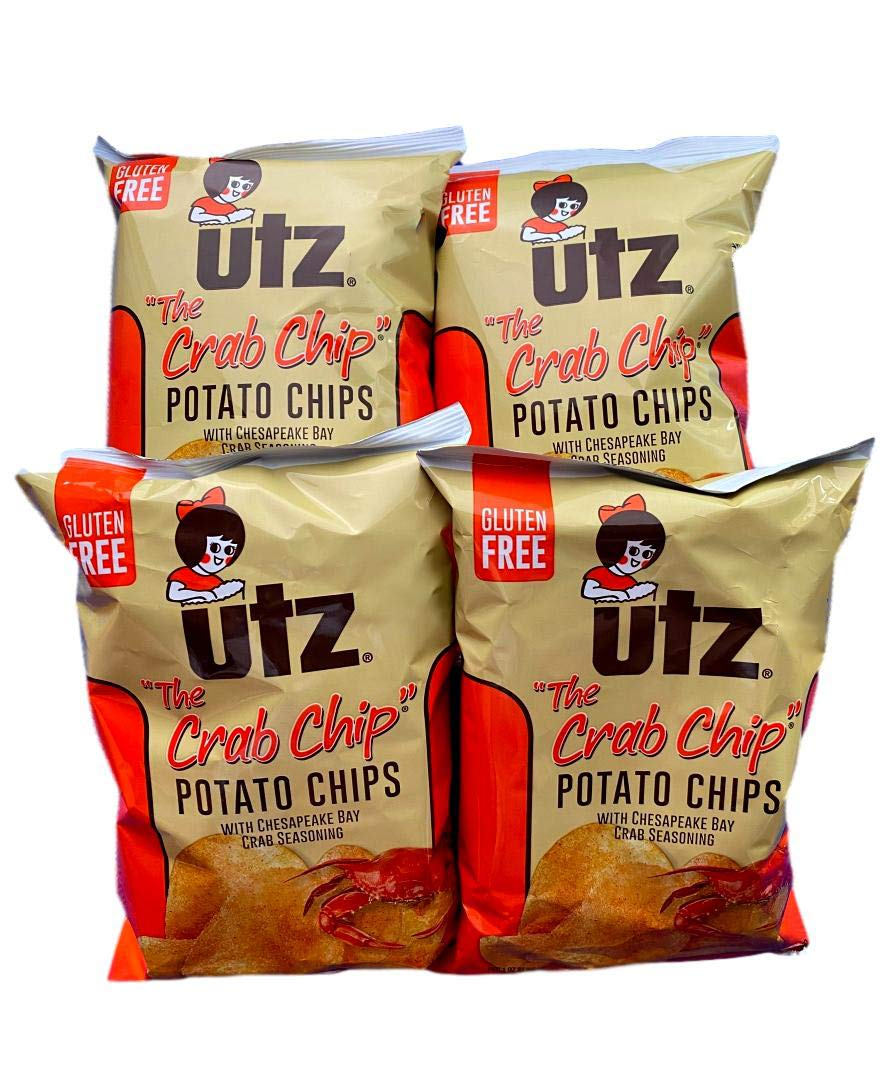 Utz Quality Foods Flavored Potato Crab Chip With Chesapeake Bay Crab Seasoning Gluten Free 2.875 oz (Pack of 4)
