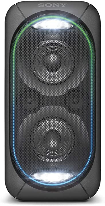 Sony gtk-xb60 sistema audio con extra bass, effetti luminosi, bluetooth, nfc, batteria fino a 14 ore, nero GTKXB60B.CEL
