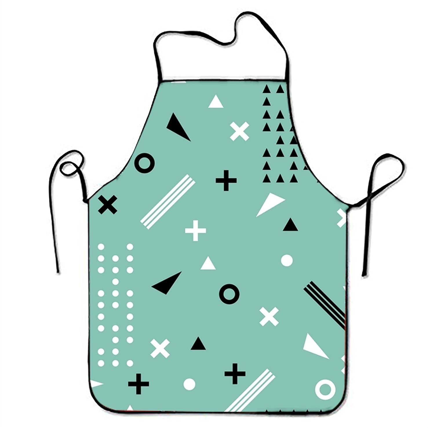 FnLiu personalized Ethnic Pattern aprons printed apron for Server Women Cooking