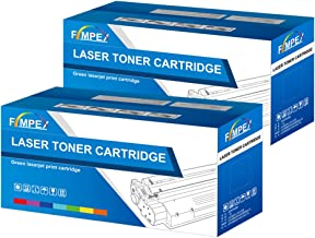 Fimpex Compatible Toner Cartucho Reemplazo para HP Laserjet P1005 P1006 P1007 P1008 P1009 CB435A (Negro, 2-Pack)