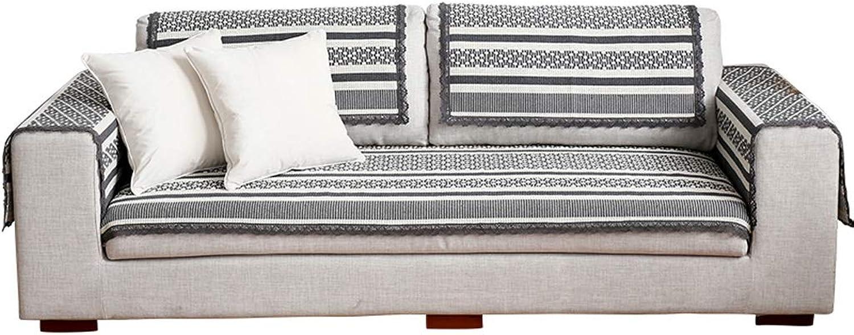 Sofa Predector, Modern Simple Cotton Linen Four Seasons Universal Breathable NonSlip Armrest Back Sofa Towel R03 (Size   90  120cm(35.43  47.24in))