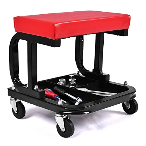 Mechanic Creeper Mobile Work Chair Stool Trolley Seat /& Drawers