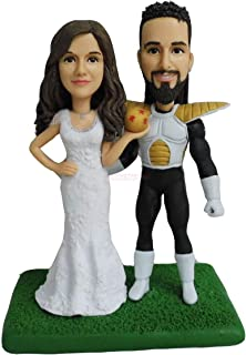 50 ° anniversario di matrimonio cake topper 10th 20th 30th 40th 50th souvenir old couple figurine mini statue custom bobbl...