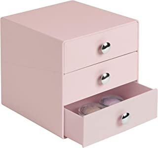 iDesign Plastic 3-Drawer Jewelry Box, Compact Storage Organization Drawers Set for Cosmetics, Dental Supplies, Hair Care, Bathroom, Office, Dorm, Desk, Countertop, 6.5