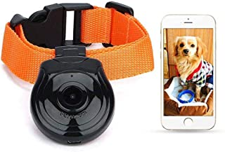 Umiwe Pet Collar Camera, 32G Waterproof Mini Video Suitable for Dog Cat Puppy Lightweight & USB Charging Recorder Cam Camera DVR Monitor