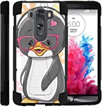 TurtleArmor | Compatible with LG V10 Case | LG G4 Pro Case [Dynamic Shell] Hybrid Duo Cover Impact Absorber Shock Silicone Combo Hard Shell Kickstand Animal - Cute Penguin