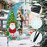 QSUM Christmas Swooper Feather Flag   Weihnachts Garten Flaggen Set, Dekorativ, Rasenflagge, Urlaub, Hofflaggen, Home Innen...