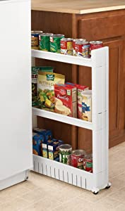 Rolling Slide Out Kitchen Storage Tower