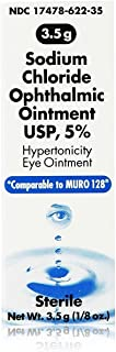 Akorn Sodium Chloride Ophthalmic Ointment, 3.5 g Each (Pack of 7)