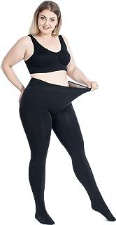 大きいサイズ120kg相当 厚手ストッキング 裏起毛 1200デニール相当 分厚いストッキング 黒・肌色