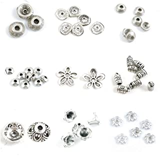 32x17mm Lead 153050 PCS Bright Silver Scroll Framed Flower Vein Charms Nickel and Cadmium Free