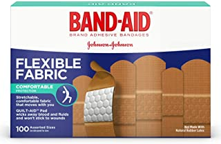 Band-Aid Brand Flexible Fabric Adhesive Bandages, Assorted Sizes bMLzQY, 3Pack (100 Count)