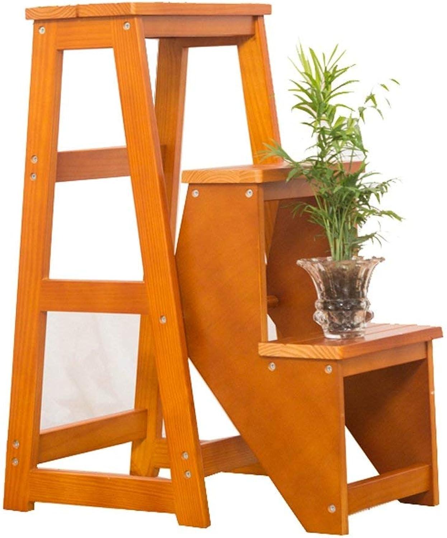 venta al por mayor barato QQXX Escalera Plegable Taburete Taburete Taburete Escaleras Sillas Madera Maciza Casa de 3 Capas, 4 Colors (Color  A)  promociones emocionantes
