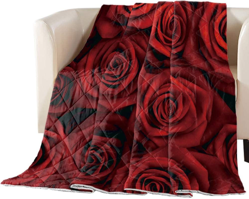 Comforter 67% OFF of fixed price Duvet Insert Home Quilt Red Romantic Dark Flower Rose Max 54% OFF
