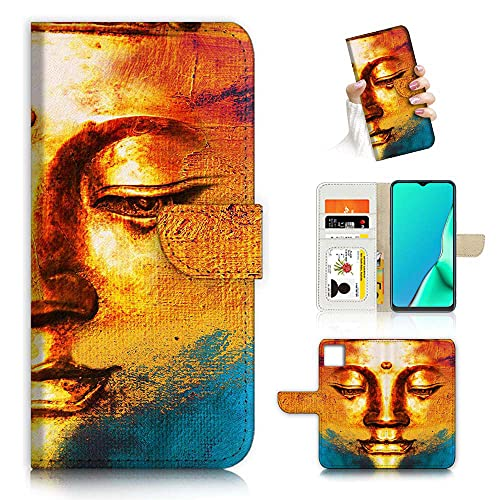 for iPhone 12 Pro Max, Designed Flip Wallet Phone Case Cover, A24421 Buddha