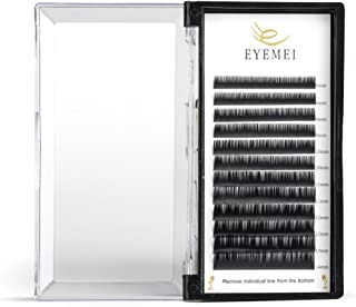 Eyelash Extensions 0.18 Individual D Curl 8-14mm Lash Extensions Semi-permanent Natural Thickness Silk Application for Professional Salon Mink Eyelash Extensions Use by EYEMEI (0.18-D-Mix)