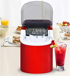 Portable Automatic Ice Maker, Household Bullet Round Ice Make Machine for Family, Bar,Coffee Shop EU/US/UK Plug,Red