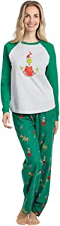 Grinch Pajamas for Women - Cotton Christmas Pajamas, Gray