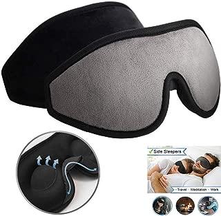 onlyer Eye Mask for Sleeping, Sleep Mask 3D Sleeping Masks Eye Mask, Soft Silk Lightweight, 100% Blockout Light Eye Cover with Anti-Slip Adjustable Strap for Travel/Naps Christmas Halloween Present