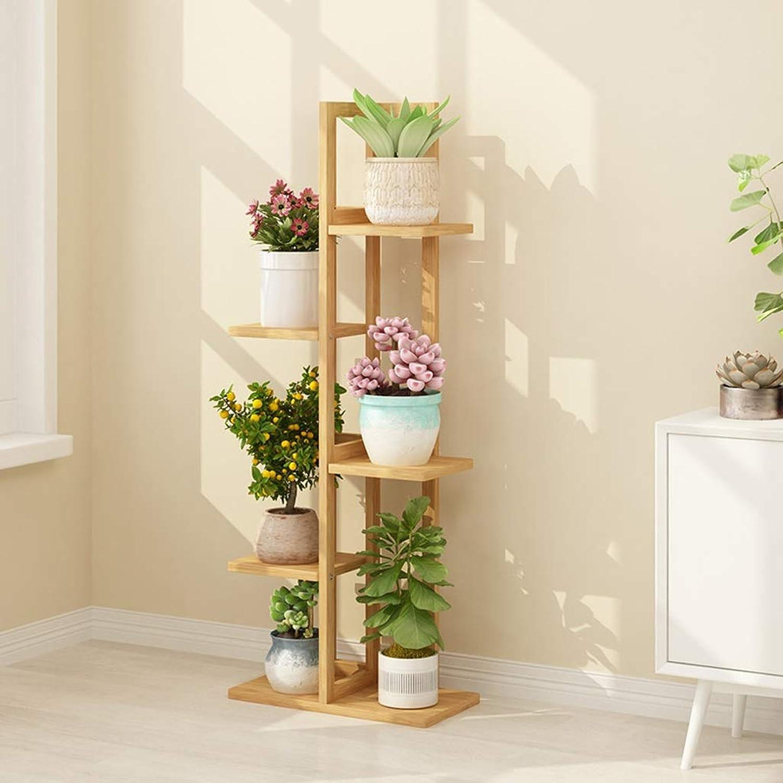 Flower racks - Bamboo Flower Stand Floor Storage Rack Multi-Layer Indoor Balcony Decoration Pot Rack Plant Shelf 40×20×102 125 145cm (Size   40  20  125cm)