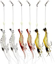 Wannabuy Artificial Silicone Soft Bait Set, Luminous Shrimp Fishing Lure with Hook Fishing Tackle, Freshwater/Saltwater(3pcs/lot 8.5cm 6g)