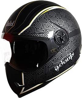 SteelBird Helmet Adonis Rustic/SBH-1 Matt Black/Yellow 580mm P.V.