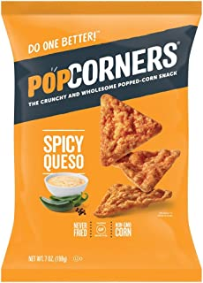 PopCorners Spicy Queso Snack   Gluten Free Snack   (12 Pack, 7 oz Snack Bags)