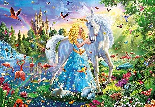 Educa Borras - Genuine Puzzles, Puzzle 1.000 piezas, La princesa y el unicornio (17654)