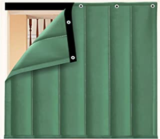 Oxford Cloth Thermal Insulated Curtain, Cold Wind Screen Soundproof Sheet Blackout Window Cover for Bedroom Bathroom, 33 S...