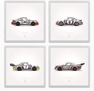 GarageProject101 1973 Classic Martini Racing Illustration Poster Print - Set of 4