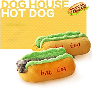 Glumes Pet Hot Dog Design Pet Dog Bed,Soft Removable and Washable Pet Mat Dog House Dot Small Pet Animal Small Dog Bed Ideal