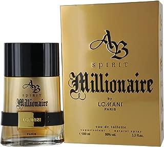 AB Spirit Millionaire Eau De Toilette Spray for Men, by Lomani, 3.3 Ounce