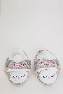 DeFacto Hayvan Figürlü Peluş Ev Ayakkabısı