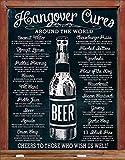 Hangover Cures Around The World Blechschild schwarz