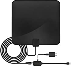HDTV Antenna 1080P HD Channels Amplified HD Digital TV Antenna for Digital TV Indoor Antenna TV Digital HD Indoor Magic Stick TV MS-50A 2019 Model 16.5ft Coaxial Cable Black