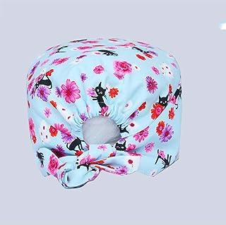 L/&H Cotone Stampato Cuffia chirurgica Medico Infermiere cap Beauty Salon Dental Hospital Zucca Cappello Unisex 2 Pezzi