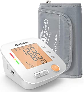 Blood Pressure Monitor Upper Arm , Arealer Automatic Blood Pressure Monitor Large Cuff, Digital Bp