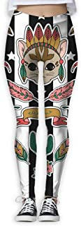 XMKWI Indian Leader Women Power Flex High Waist Yoga Pants Workout Tights Leggings Trouser
