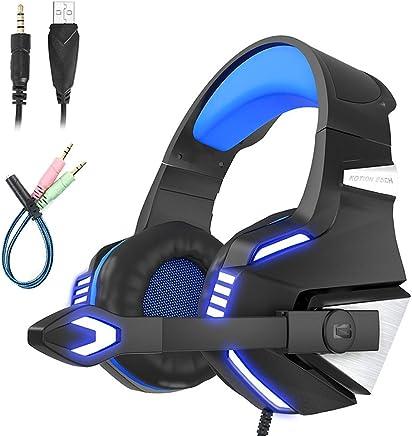 Mengshen Cuffie Gaming PS4 - Cuffie da Gioco con Microfono, Stereo Bass, Controllo del Volume e LED per PlayStation 4 Xbox One PC Nintendo - G7500 Blue - Trova i prezzi più bassi