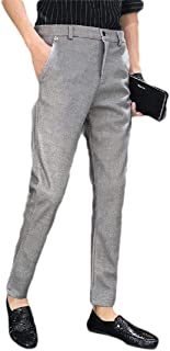 Howely Men Relaxed-Fit Business Slim Fit Woolen Dress Pant with Pockets